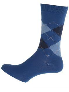 """Royal and Marine Argyle Socks: 82% Combed Cotton, 18% Nylon, 10.5"""" Leg Length Sock #UKOnlineShopping #UKShopping"""