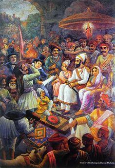 Darbar of Chhatrapati Shivaji maharaj (Reprint on Paper - Unframed))