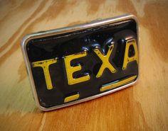 License Tag Buckle - Texas