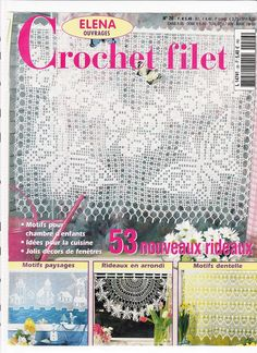 Filethakeln S FI 154 – Zosia – Picasa tīmekļa albumi Knitting Books, Crochet Books, Crochet Home, Thread Crochet, Crochet Stitches, Filet Crochet, Crochet Chart, Knit Crochet, Crochet Curtains