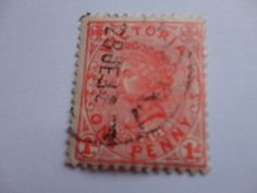 One Penny Old Victoria Postage Stamp
