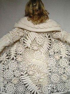 thepreppyyogini:Spectacular sweater. #gorgeouscrochet #crochetedsweater #fabulous!