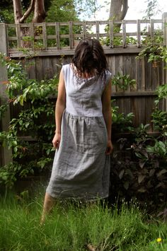1f242c3cf04 Tutorial  Two-tone linen summer dress (add pockets)