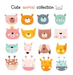 More than 3 millions free vectors, PSD, photos and free icons. Exclusive freebies and all graphic resources that you need for your projects Cartoon Cartoon, Doodles, Pattern Illustration, Octopus Illustration, Cute Baby Animals, Smiling Animals, Animal Faces, Retro Logos, Icon Set