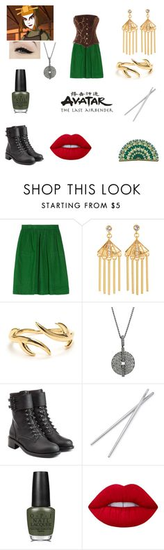 """Suki avatar"" by harrypotternexrgenlove ❤ liked on Polyvore featuring See by Chloé, Anatomy Of, Gerard Yosca, Cartier, Philosophy di Lorenzo Serafini, Fortessa, OPI and Lime Crime"