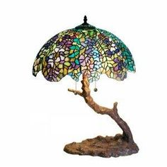 "Tiffany Tree Lamp  would love this to use as a focal point for an INDOOR ""Pixie Hollow""  :)"