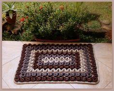 Tapete de Crochet com Fio de Malha ou Trapilhos (Crochet Rag Rug): Ponto Wiggly