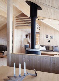 wasmunderi Seen from the kitchen # Nailsart Simple Interior, Home Interior Design, Interior Architecture, Scandinavian Cottage, Wooden Cabins, Wooden House, Mountain Living, Cabin Interiors, Home Decor Kitchen