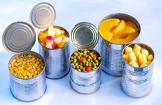 canned fruits veggies | 12 Survival Foods That Will Save You in a Power Outage | Best List of Food for Prepping by Survival Life at http://survivallife.com/survival-food-power-outage/
