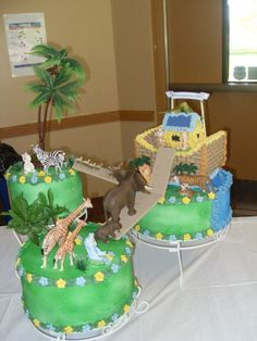 58 Trendy Baby Shower Centerpieces For Twins Noah Ark Baby Shower Vintage, Baby Shower Fall, Baby Boy Shower, Noahs Ark Cake, Noahs Ark Party, Baby Shower Cupcakes, Shower Cakes, Baby Shower Centerpieces, Baby Shower Decorations