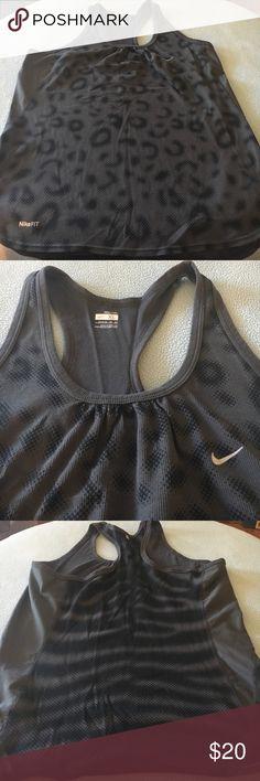 Nike Dri-fit tank Cute, Nike Dri-fit tank. Black and gray pattern. Size XL. Nike Tops Tank Tops