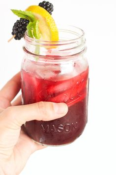 Blackberry Bourbon Lemonade | Bake Your Day