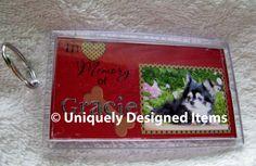 Pet Memorial key chain and memorial tile  by UniquelyDesigneditem, $36.00