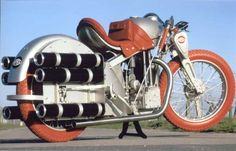 Opel rocket Bike, constructed by Ernst Neumann-Neander. Vmax > 200 km/h in 1929.