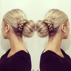 FabFashionFix - Fabulous Fashion Fix   Beauty: Braided Bun Hairstyle Tutorial