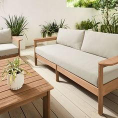 Give your home the cleaning it deserves with environmentally-safe, reliable and effective cleaning supplies available from west elm. Backyard Furniture, Modern Outdoor Furniture, Teak Furniture, Design Furniture, Furniture For Small Spaces, Sofa Design, Furniture Ideas, Modern Patio, Out Door Furniture