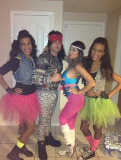 80's costumes for themed bday party.