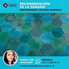 Hoy te recomendamos nuestras Hexagonales Colores Marinos Modelos. #baldosascordova #artesanosdeltiempo #cementiles #baldosashidráulicas #yomequedoencasa #quedateencasa #arquitectura #revestimientos Templates, Architecture, Colors