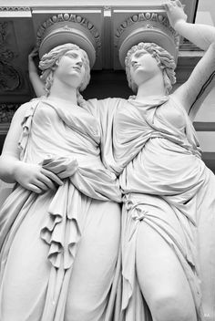 """welkinlions: """" Caryatids in front of the Austrian Parliament (1874–1883), Vienna A caryatid is a sculpted female figure serving as an architectural support taking the place of a column or a pillar..."""