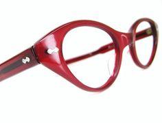 Vintage Red Hot 1950s Cat eye Eyeglasses by Vintage50sEyewear, $94.00