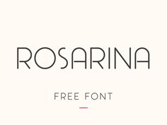 Rosarina is an uppercase light font (with rounded corners) that can be used for headlines, book/magazine covers, posters, flyers.