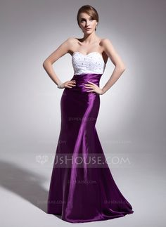 Evening Dresses - $142.19 - Trumpet/Mermaid Sweetheart Sweep Train Charmeuse Evening Dress With Ruffle Beading Sequins (017014564) http://jjshouse.com/Trumpet-Mermaid-Sweetheart-Sweep-Train-Charmeuse-Evening-Dress-With-Ruffle-Beading-Sequins-017014564-g14564