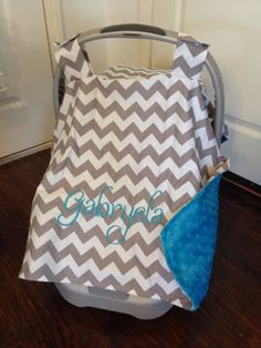 A personal favorite from my Etsy shop //.etsy.com & Baby infant carrier canopy car seat minky by CustomThreadsShop ...