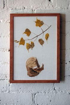 birch botanical embroidery
