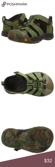 """KEEN Newport H2 Boys Sandal New in box. KEEN """"Newport H2"""" children's sandal. Unisex Size 9 US (toddler) in """"crushed bronze green"""" with camo Bottom. Keen Shoes"""