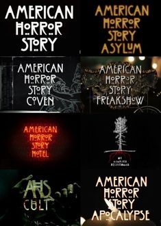 American Horror Story logotipos For Some Seriously Groovy Horror and Cult Clothing. American Horror Story Hotel, American Horror Story Seasons, Tales From The Crypt, Horror Show, I Am Scared, Series Movies, Best Tv, Horror Stories, Good Movies