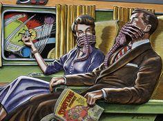 The Amazing Alien Artwork of Dennis Larkin #art #artwork #syfi #sci-fi #50s #fifties #ufo #alien #ufos #aliens #Vintage #60s #Illustration #Retro  #Posters #Futurismo #Fiction