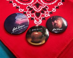Bob Seger - Set of 3 Vintage Buttons by PortableGraffiti for $6.00