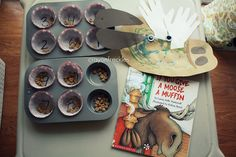 Love the Moose with handprint antlers (for  If You Give a Moose a Muffin)