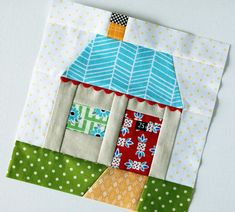 paper pieced house | trying something new | Kim | Flickr