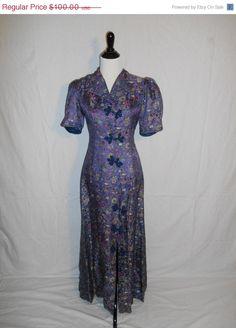 Vintage Clothing SALE Vintage Beautiful SILK by ATELIERVINTAGESHOP