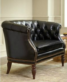Leather Office Chair In Brown Tufted Embossed Croc Http