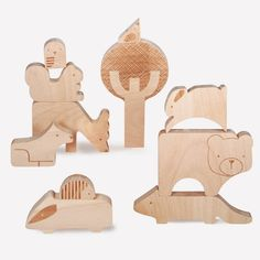 This puzzle's a brainteaser! Put the animals together to compose the puzzle, or simply stack and play with the pieces. Beautifully made from FSC-certified beech wood and detailed with laser etchings.