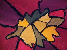 cubist leaf, nice colors!