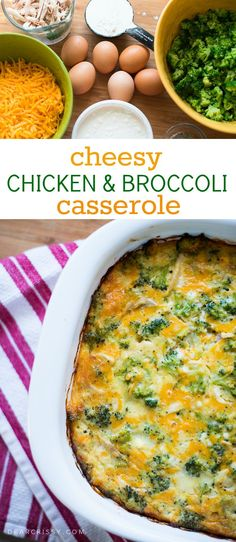 Cheesy Chicken & Broccoli Casserole - This easy casserole is filling and delicious, making it the perfect quick weeknight meal for your family.