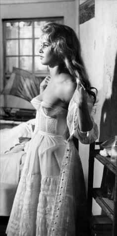 BB in her underwear.