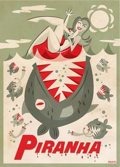 Piranha by Poleta Art, via Flickr
