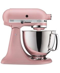 Retro styled and easy to use, the KitchenAid Artisan stand mixer is the perfect kitchen companion. Employing a unique tilting head to facilitate bowl and content removal, this mixer is undeniably handy. Small Kitchen Appliances, Kitchen Aid Mixer, Kitchen Gadgets, Kitchen Tools, Baking Appliances, Pig Kitchen, House Appliances, Kitchen Products, Kitchen Items