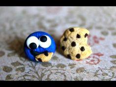 ▶ DIY Cookie Monster Polymer Clay Earrings {Stop Motion Tutorial} - YouTube