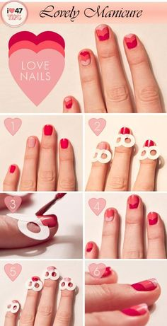 cute nail pattern technique... but who has the time?!