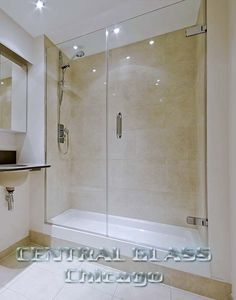 Available in 3/8 inch or 1/2 inch glass, your glass shower enclosures will be custom made in Chicago and installed in your home by our Central glass craftsmen.