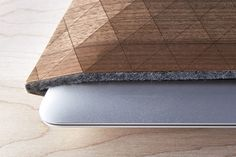 Wood sleeve for iPad and MacBook by Grovemade all natural wood and wool design http://www.woodz.co/wood-sleeve-for-ipad-and-macbook/