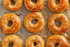 Domowe bajgle żytnie. - Lawendowy Dom Food Design, Bagel, Dom, Doughnut, Bread, Drink, Kuchen, Beverage, Breads