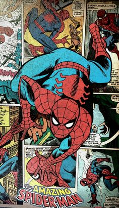 The original SpiderMan - Marvel Marvel Art, Marvel Dc Comics, Marvel Heroes, Marvel Avengers, Captain Marvel, Amazing Spiderman, All Spiderman, Spiderman Original, Photocollage