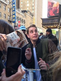 Ben Platt from Dear Evan Hansen greeting fans