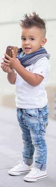 To cute kid swag.. .love the outfit but would def have him w a diff hairstyle